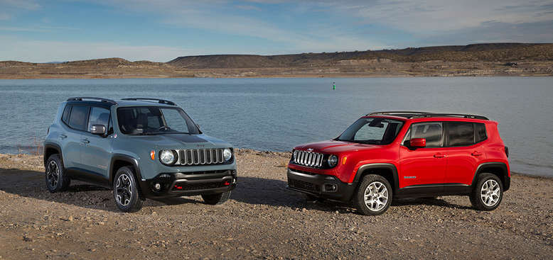 Jeep Renegade, Modellfamilie, Trailhawk (links), Lattitude (rechts), 2014, Foto: Jeep