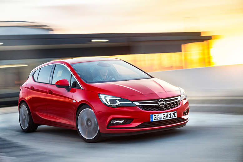 Opel Astra, Frontansicht, Seite, 2015, Foto: Opel