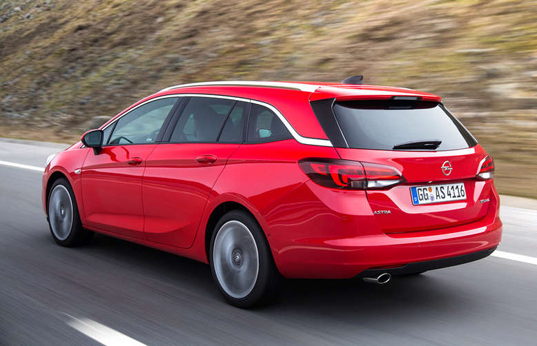 Astra Sports Toure, Heck, 2016, Foto: Opel