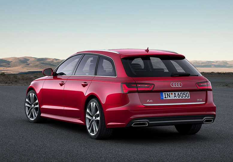 Audi A6 Avant, seitliches Heck