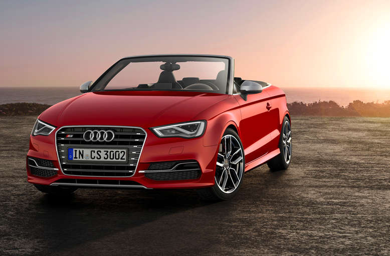 Audi S3 Cabriolet, Misanorot, Frontansicht, 2014, Foto: Audi